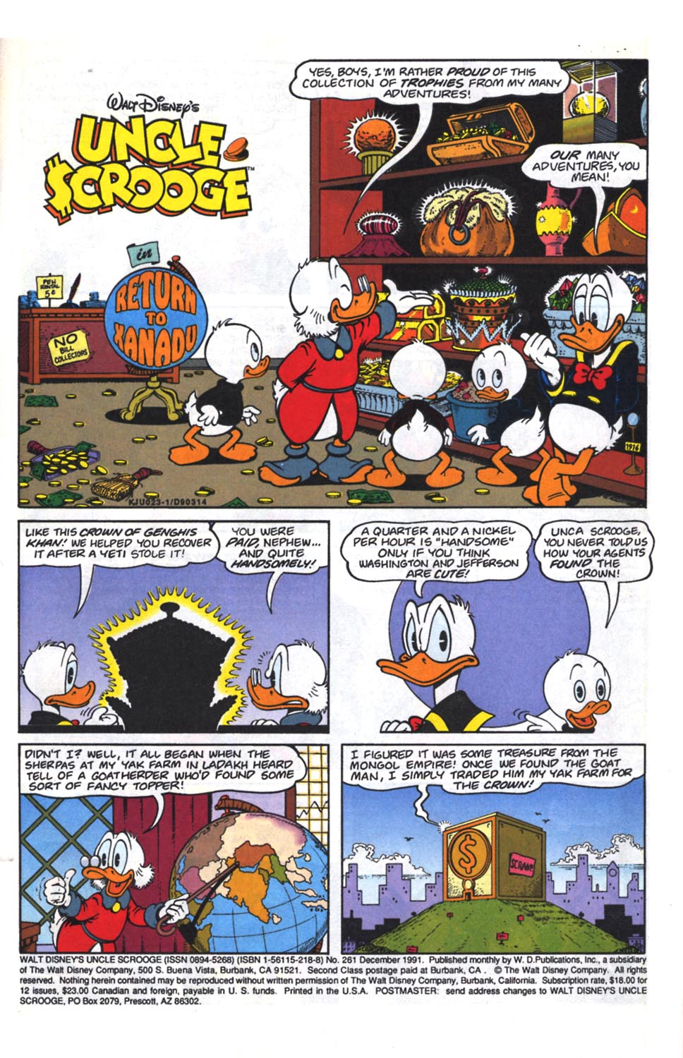Uncle Scrooge (1953) Issue #261 #261 - English 2