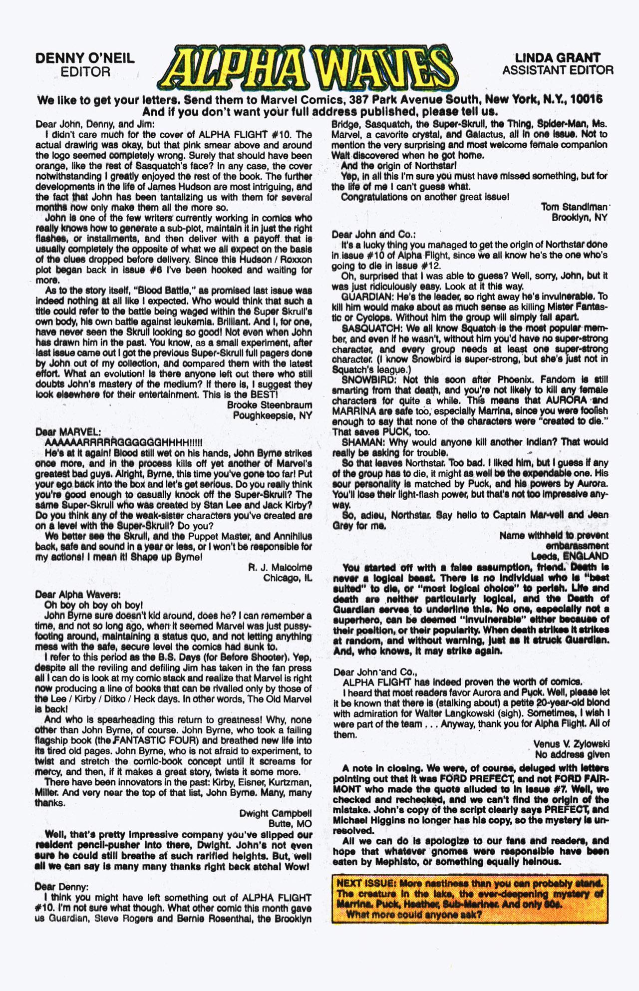 Alpha Flight (1983) 14 Page 24