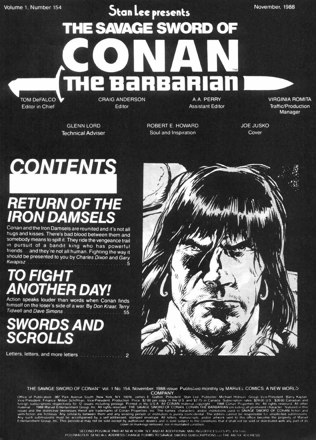 The Savage Sword Of Conan Issue #154 #155 - English 3