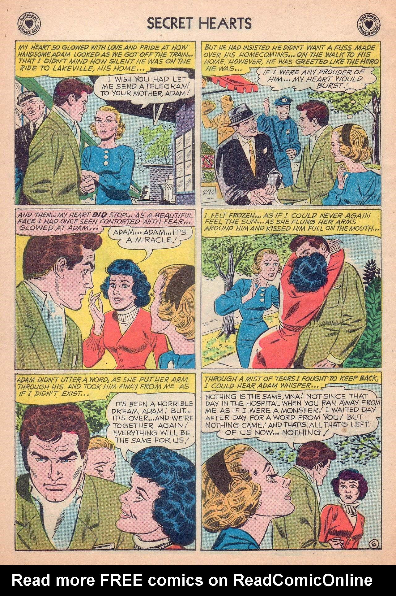 Read online Secret Hearts comic -  Issue #63 - 32