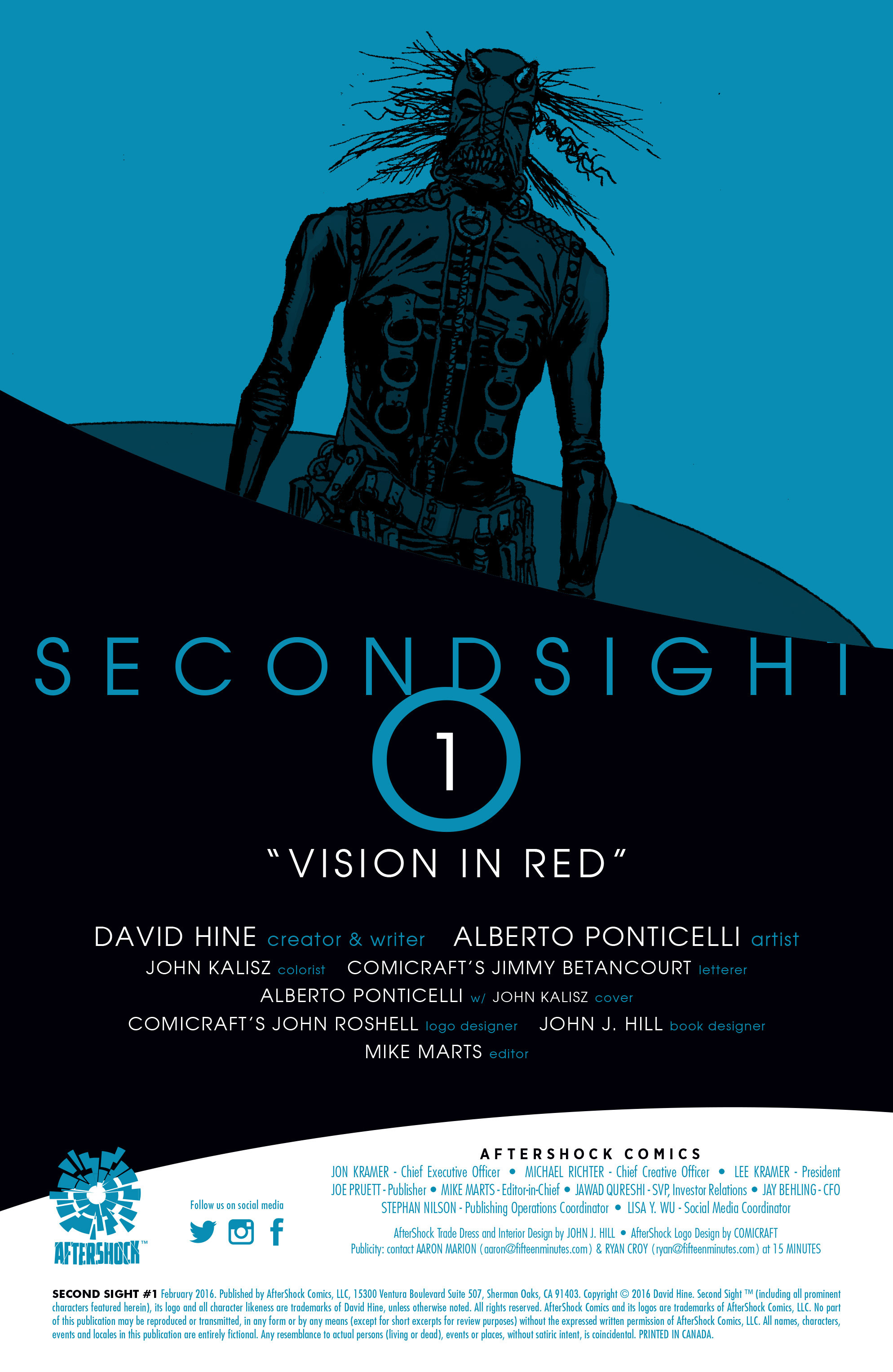 Read online Second Sight comic -  Issue #1 - 2