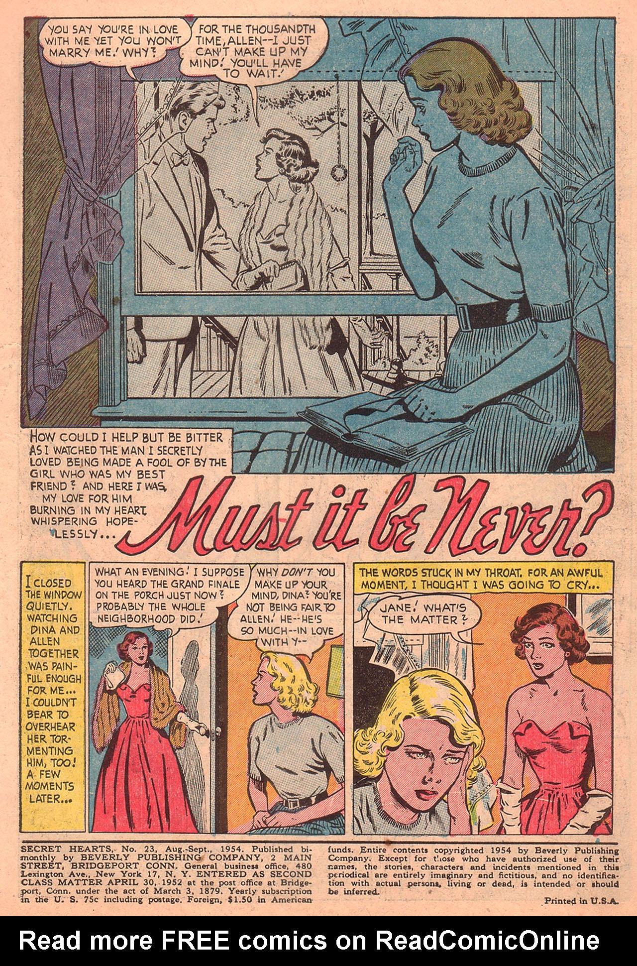 Read online Secret Hearts comic -  Issue #23 - 3