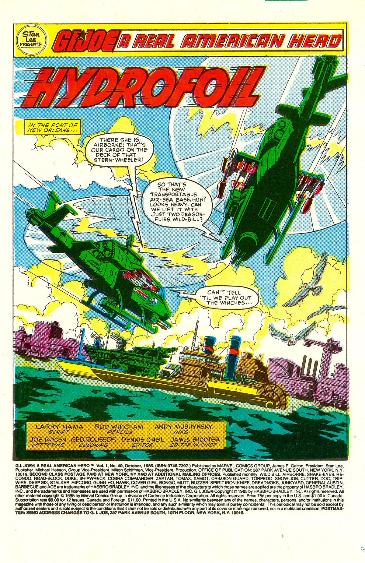 G.I. Joe: A Real American Hero 40 Page 2