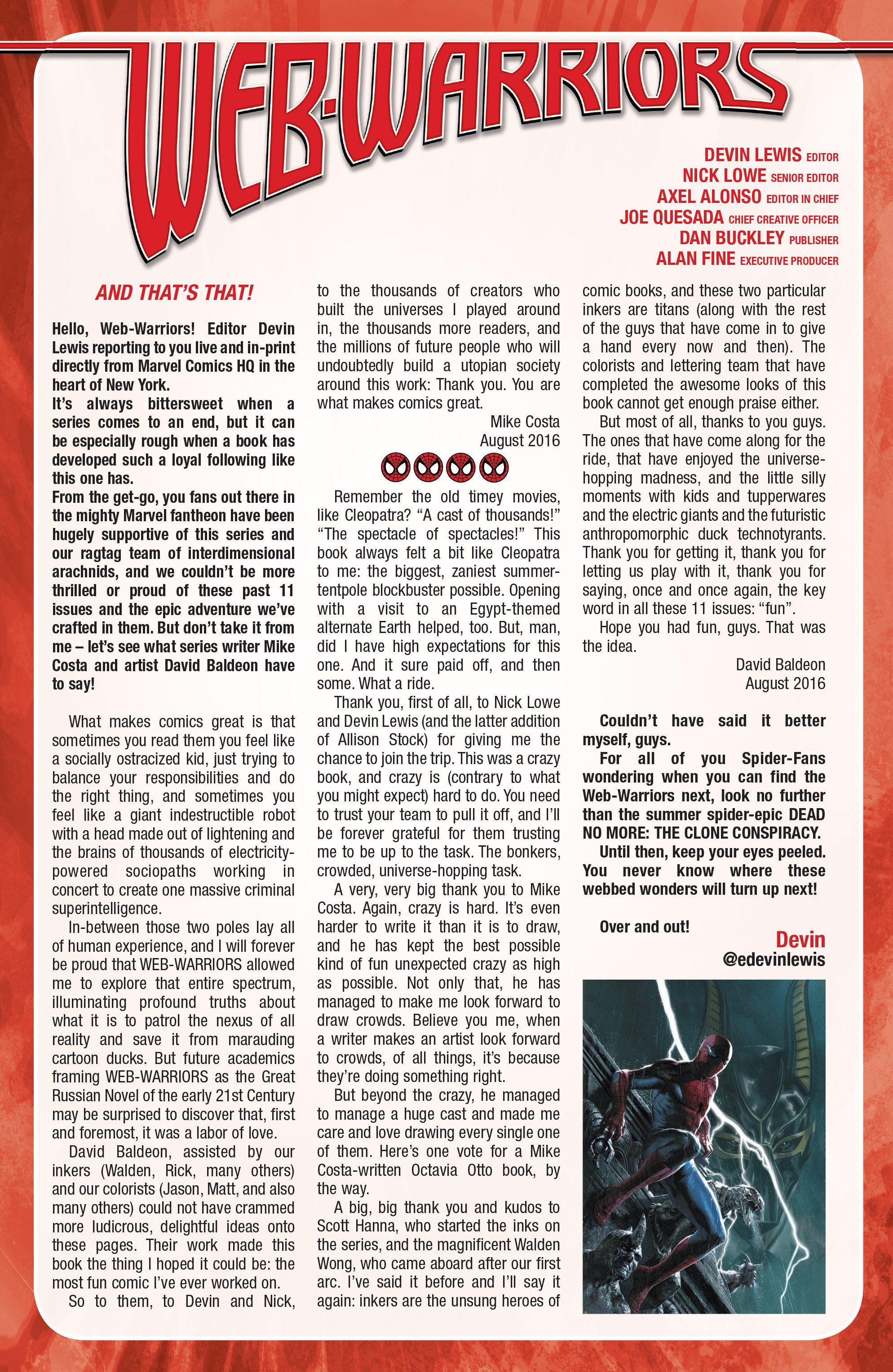 Read online Web Warriors comic -  Issue #11 - 22