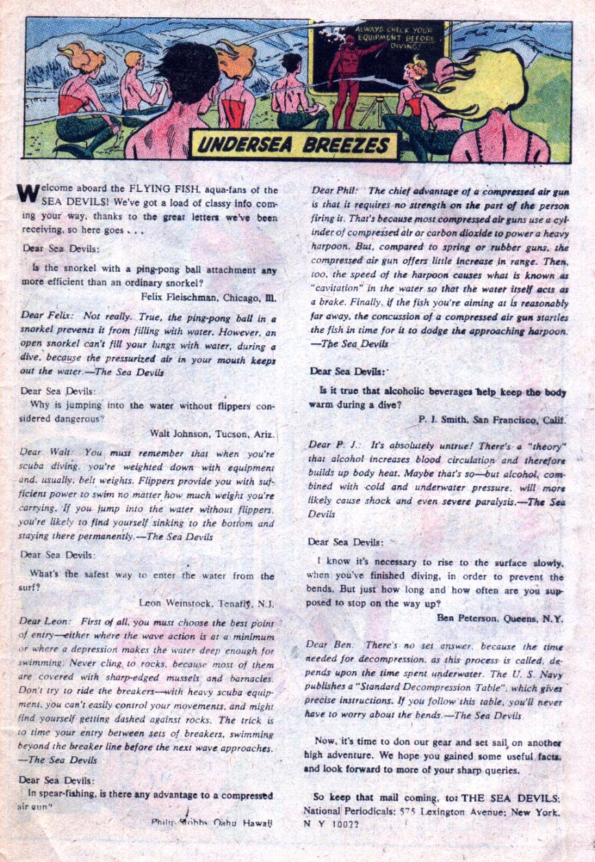 Read online Sea Devils comic -  Issue #33 - 34