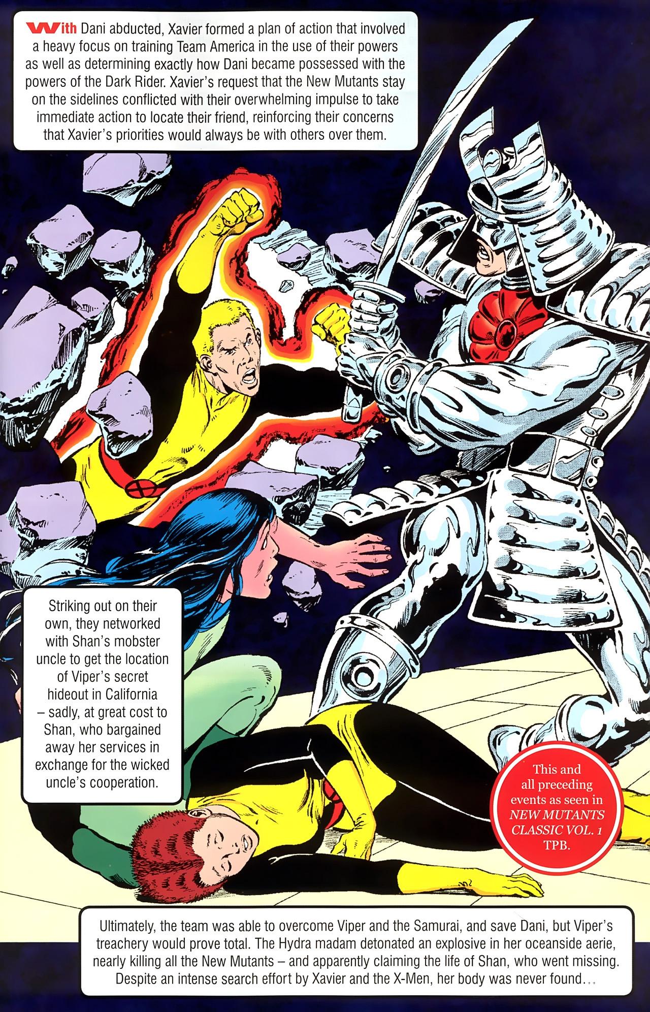 Read online New Mutants Saga comic -  Issue # Full - 8