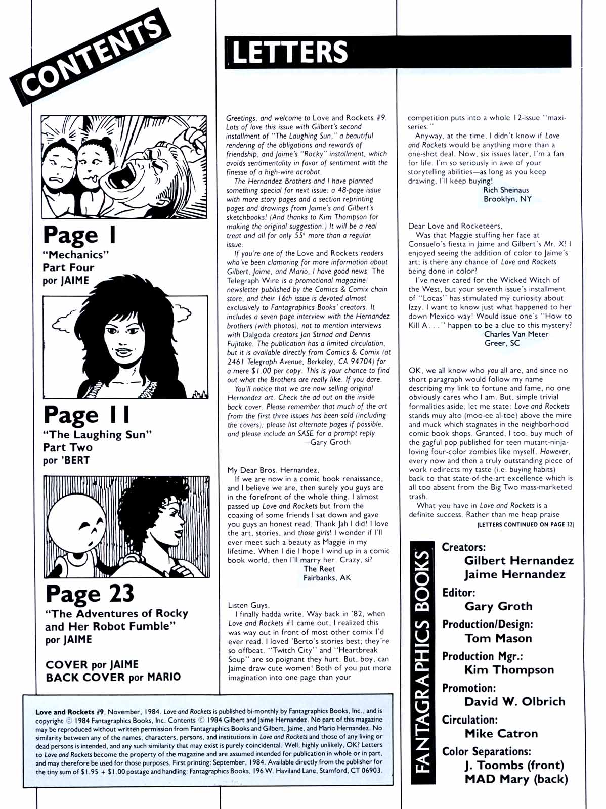 Love and Rockets (1982) Issue #9 #8 - English 2