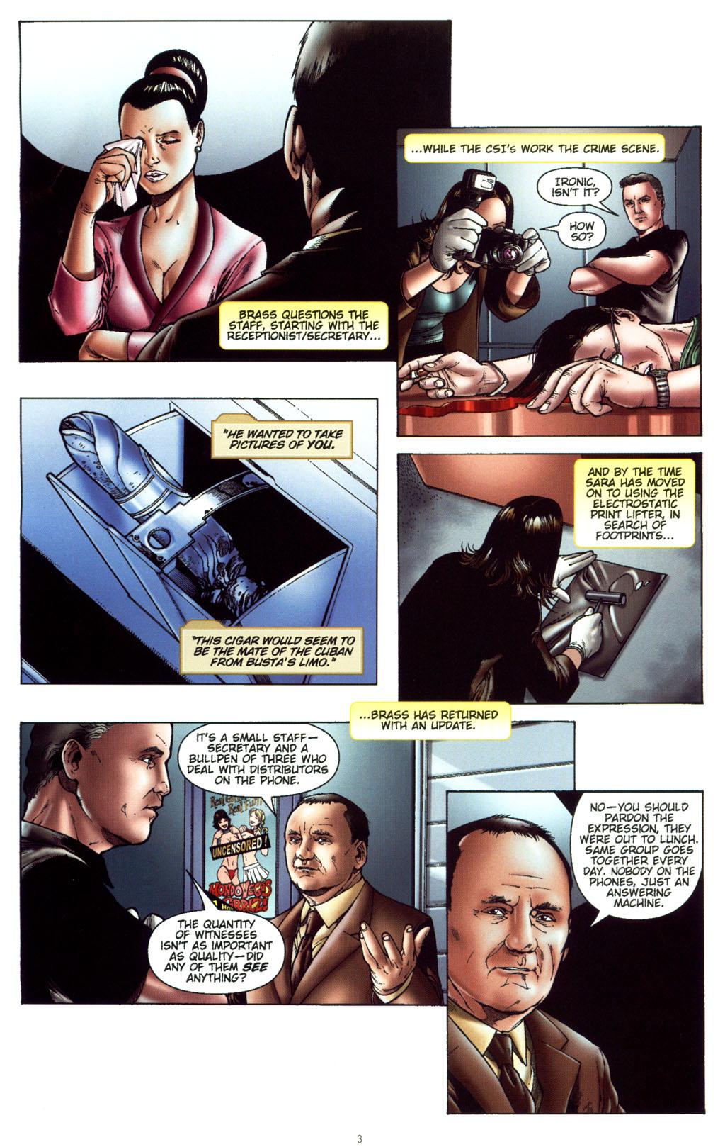 Read online CSI: Crime Scene Investigation: Bad Rap comic -  Issue #5 - 6