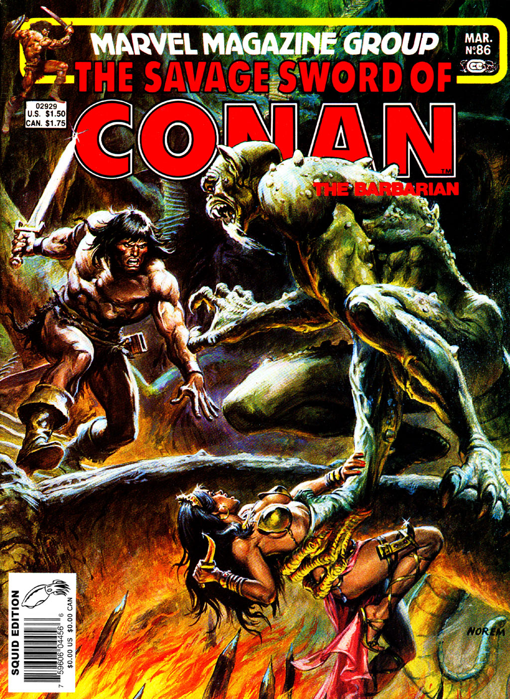 The Savage Sword Of Conan Issue #86 #87 - English 1