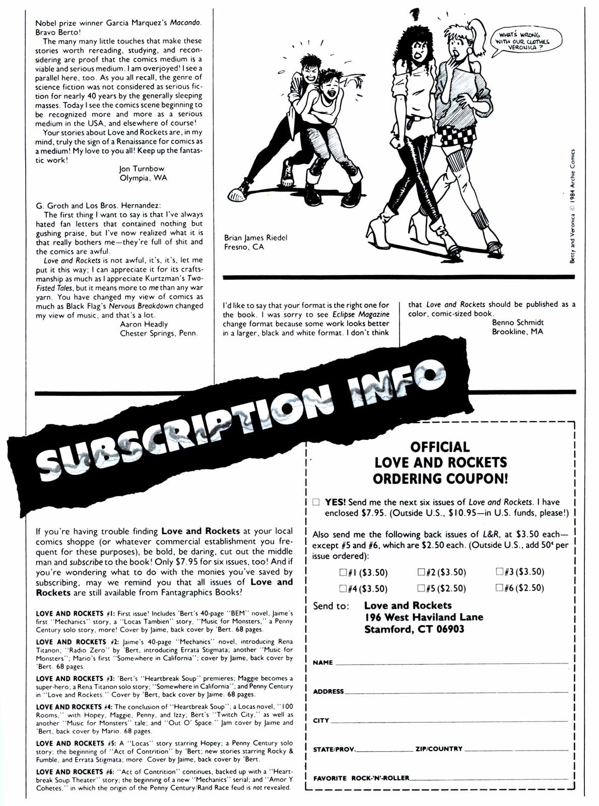 Love and Rockets (1982) Issue #7 #6 - English 33