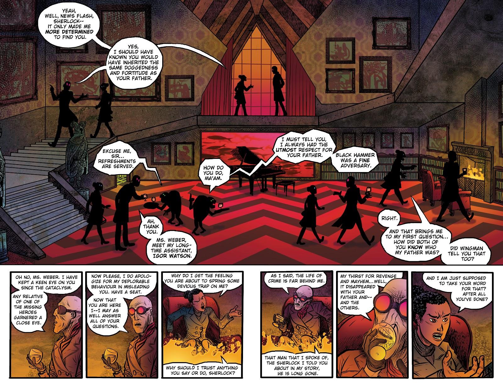 Read online Sherlock Frankenstein and the Legion of Evil comic -  Issue #4 - 9