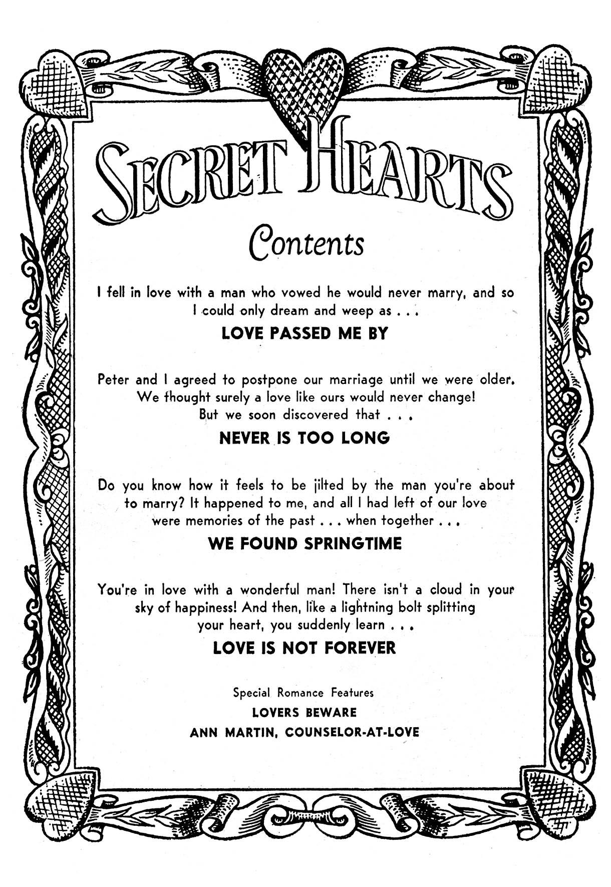Read online Secret Hearts comic -  Issue #21 - 2