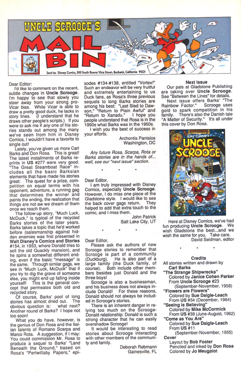 Uncle Scrooge (1953) Issue #280 #280 - English 27