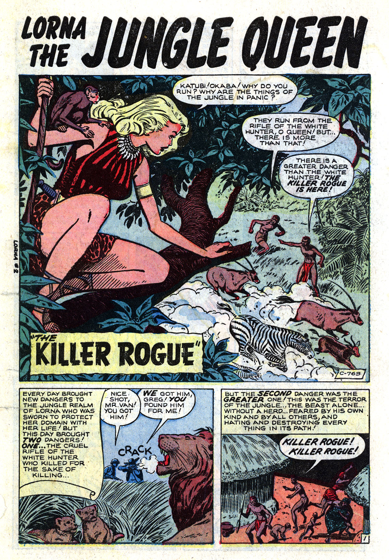 Read online Lorna, The Jungle Queen comic -  Issue #2 - 3