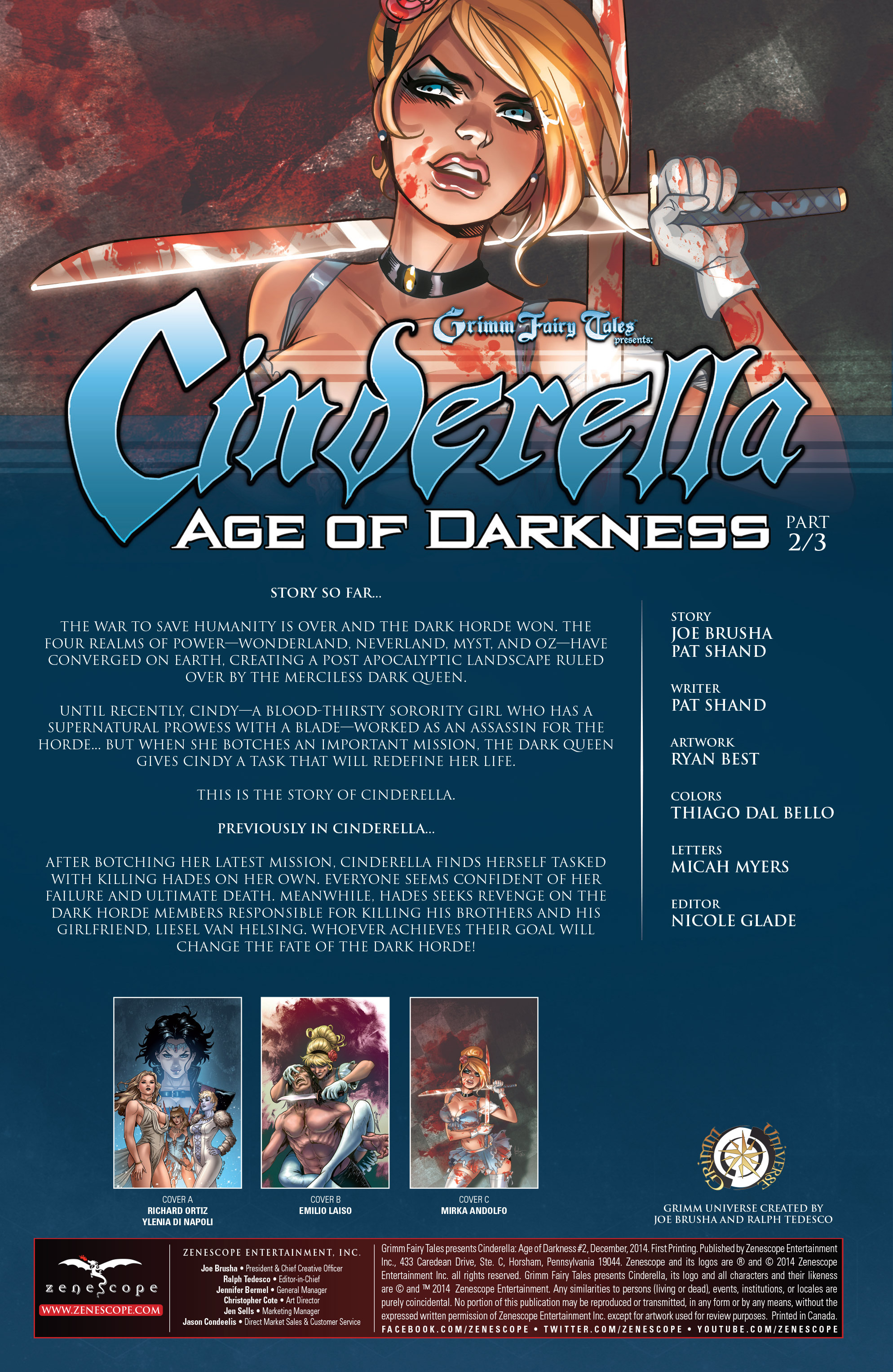 Read online Grimm Fairy Tales presents Cinderella: Age of Darkness comic -  Issue #2 - 2