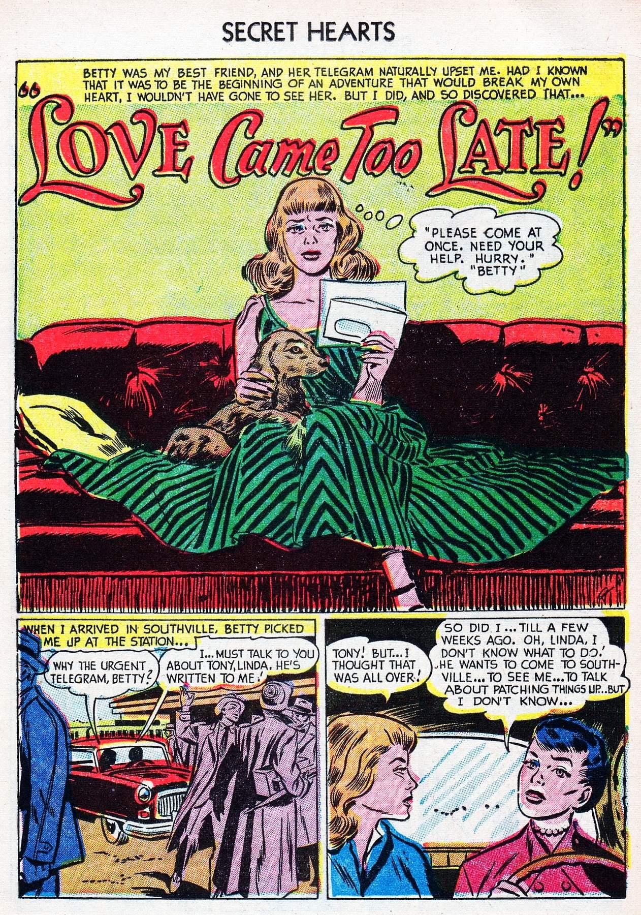 Read online Secret Hearts comic -  Issue #16 - 17