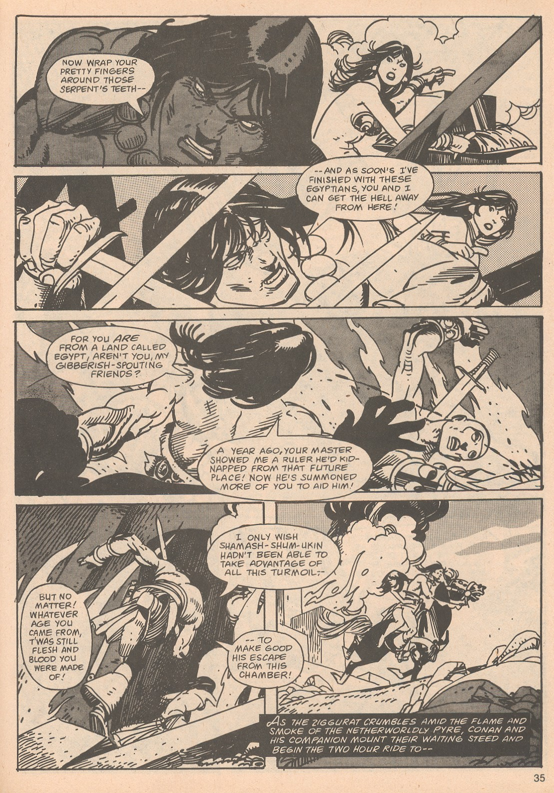 The Savage Sword Of Conan Issue #65 #66 - English 35