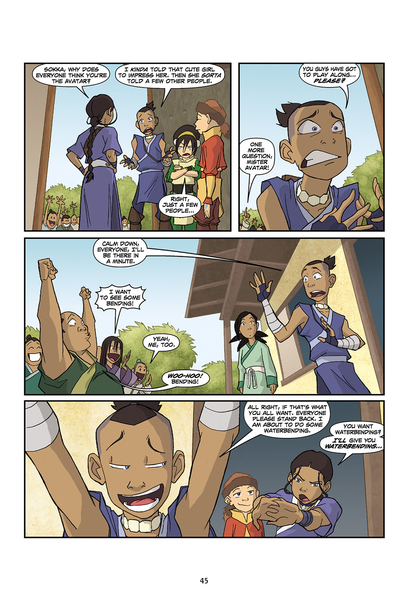 Nickelodeon Avatar: The Last Airbender - The Lost Adventures chap full pic 46