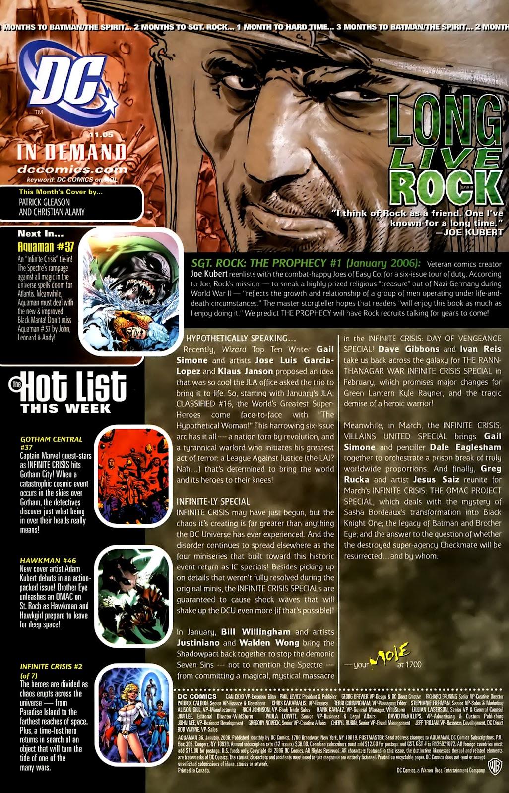 Aquaman (2003) Issue #36 #36 - English 24