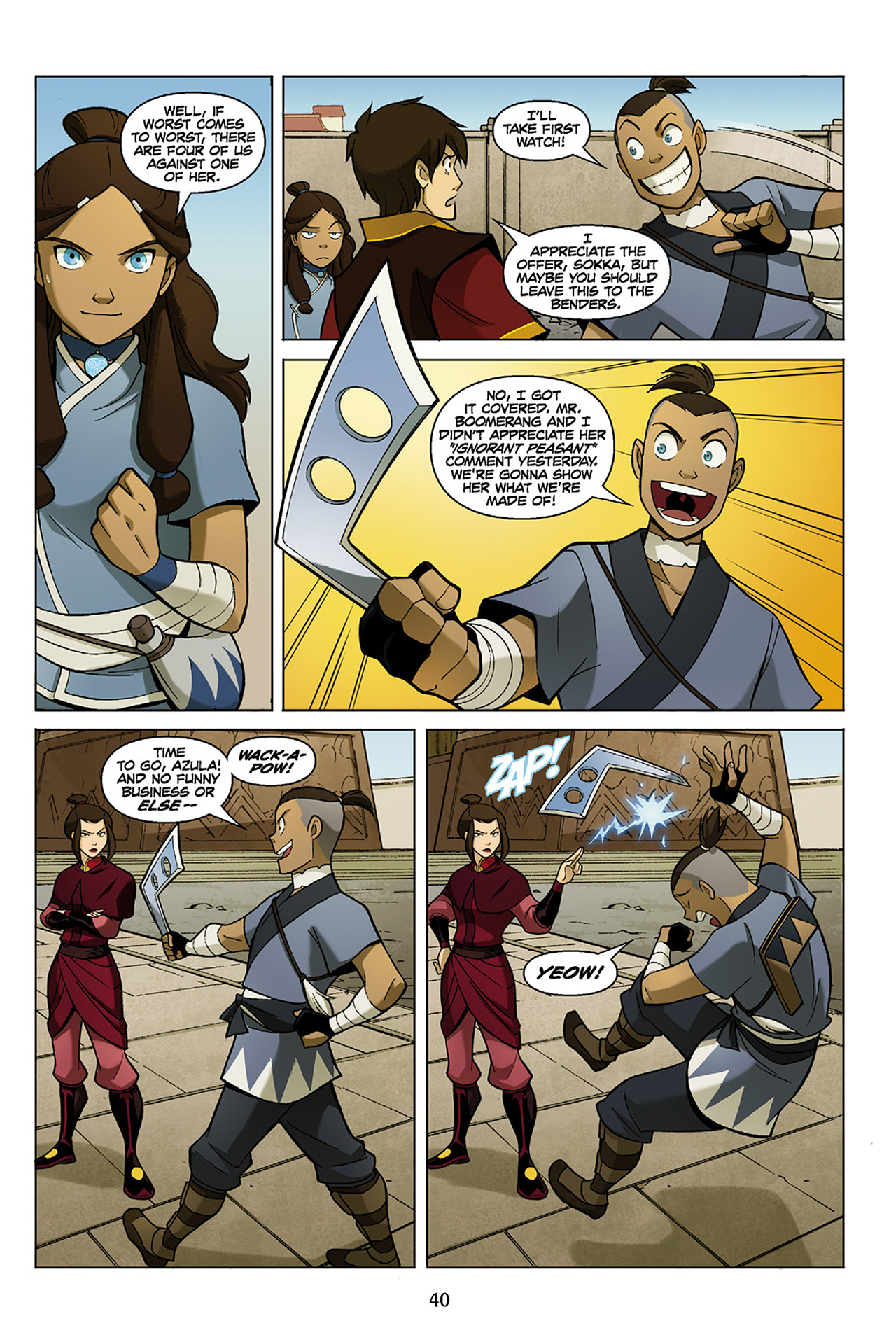 Read online Nickelodeon Avatar: The Last Airbender - The Search comic -  Issue # Part 1 - 41