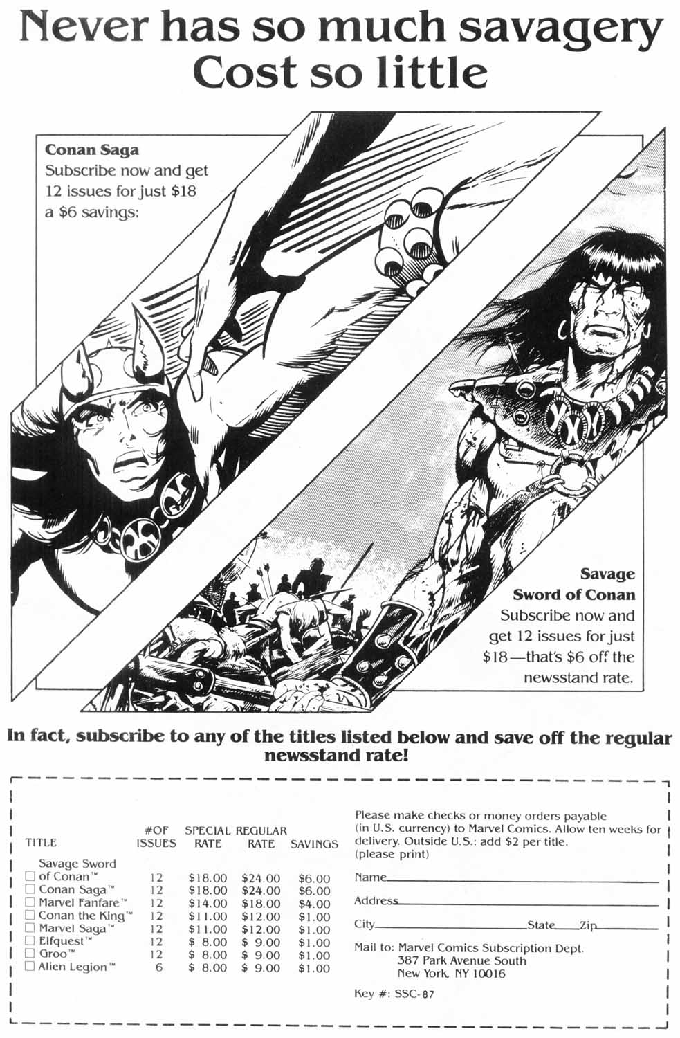 The Savage Sword Of Conan Issue #157 #158 - English 64