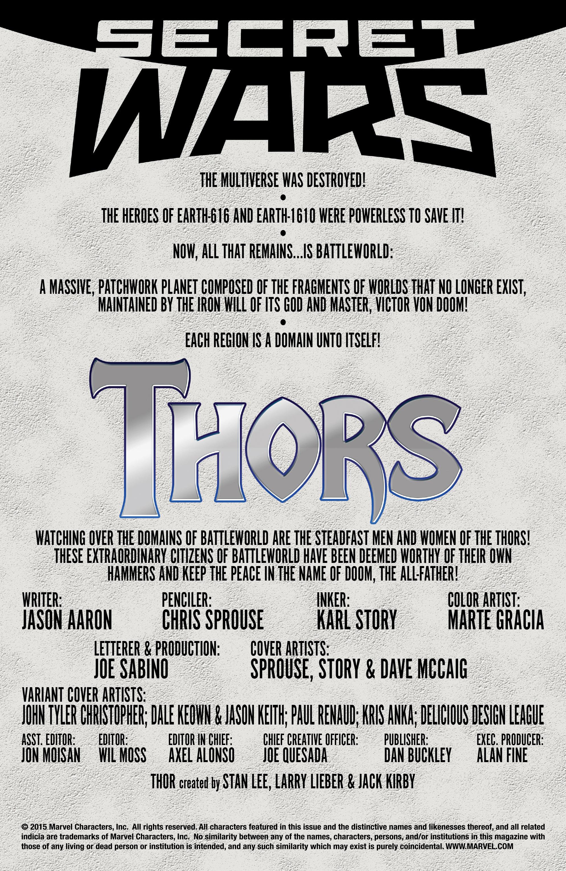 Thors #1 #4 - English 2