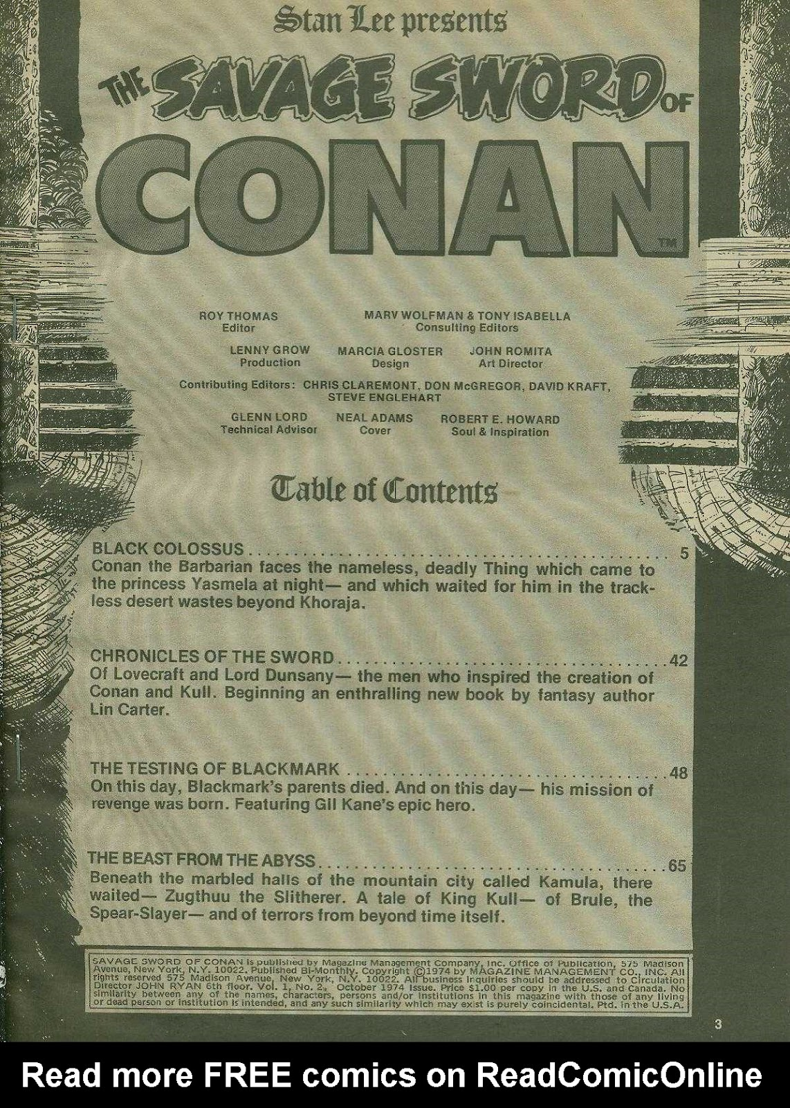 The Savage Sword Of Conan Issue #2 #3 - English 3