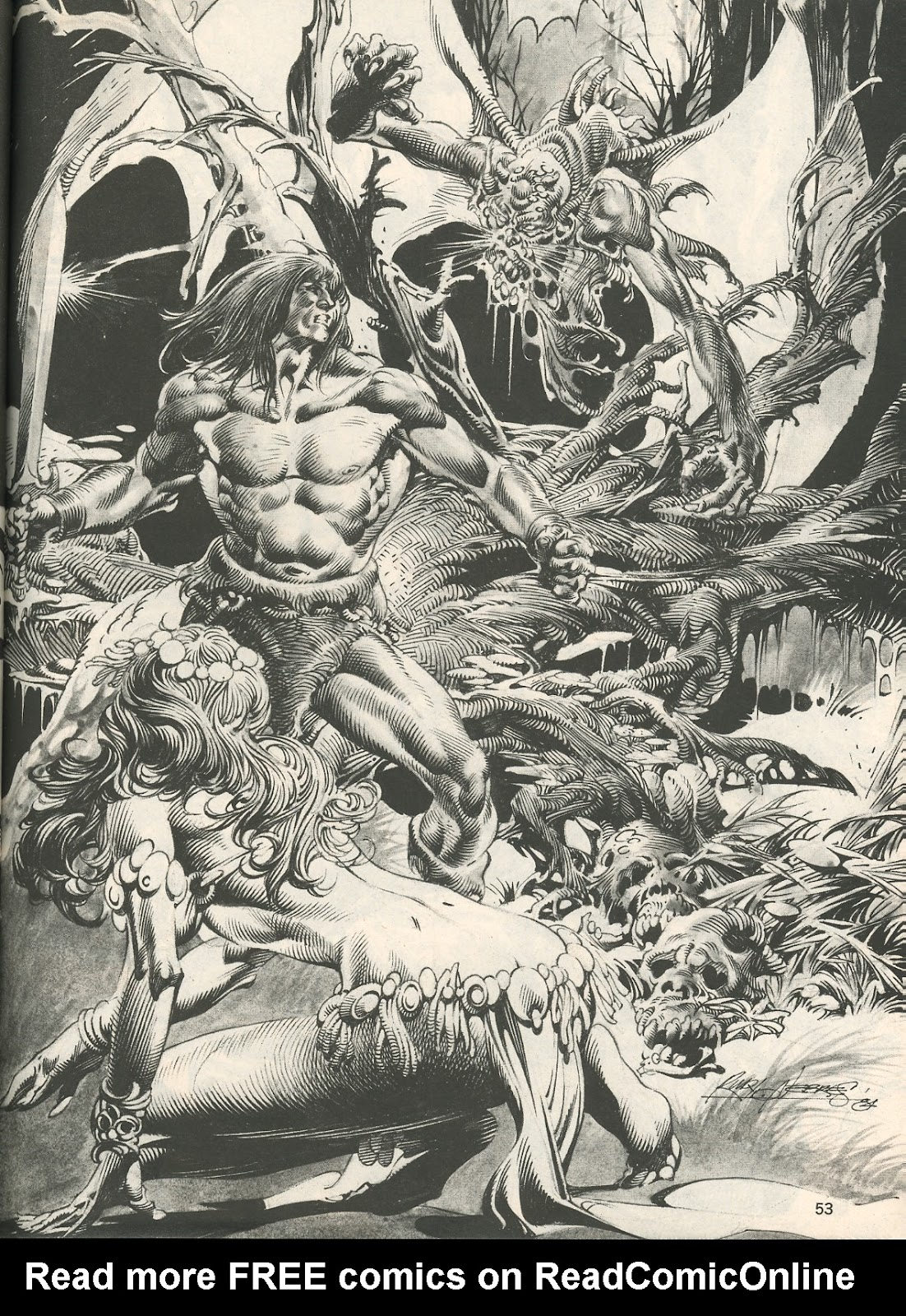 The Savage Sword Of Conan Issue #107 #108 - English 53