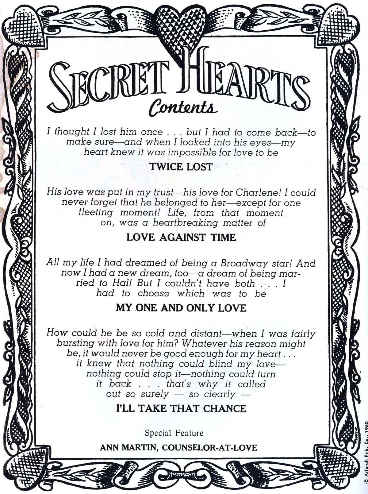 Read online Secret Hearts comic -  Issue #62 - 2