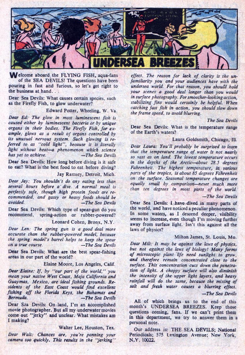 Read online Sea Devils comic -  Issue #34 - 35
