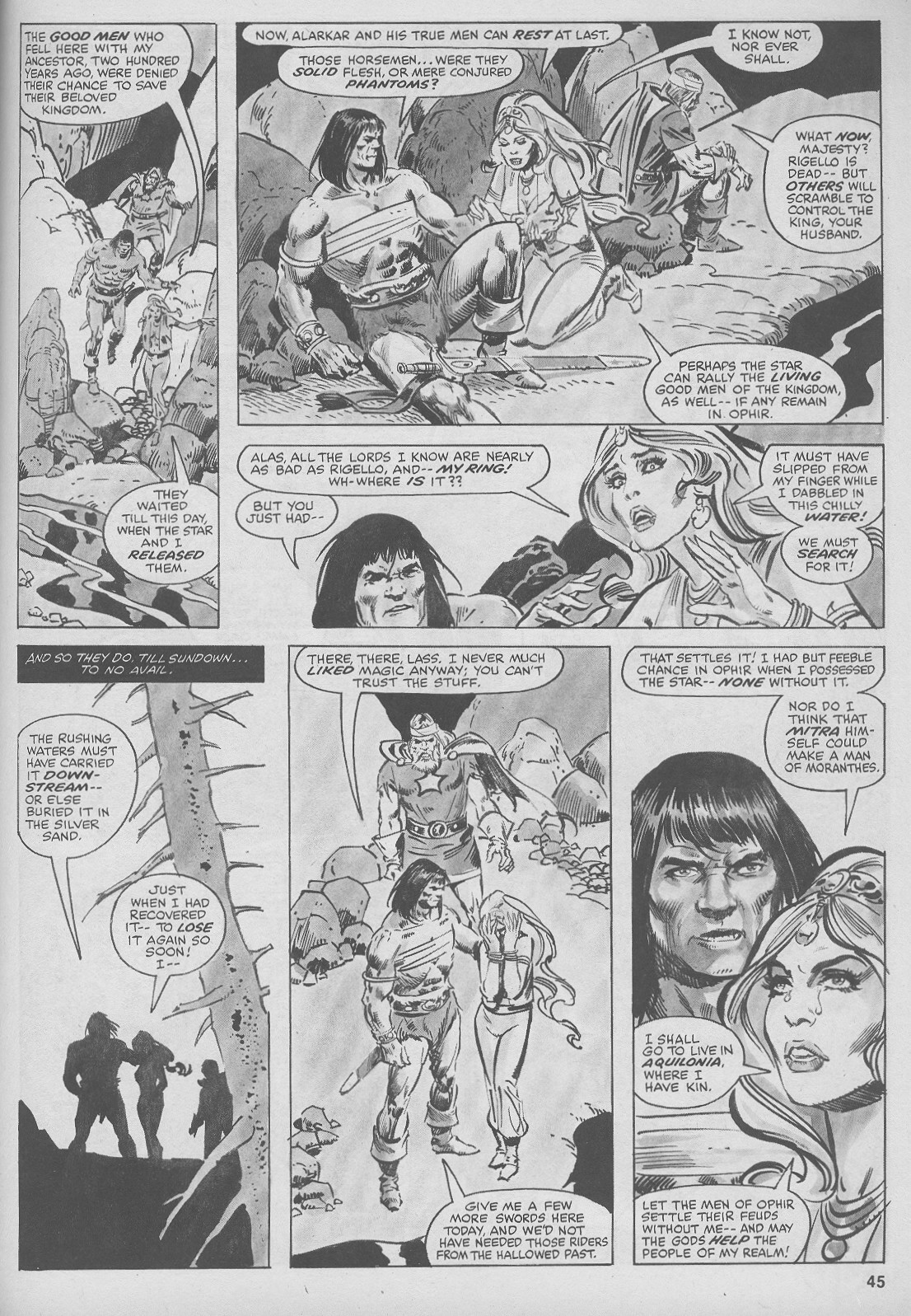 The Savage Sword Of Conan Issue #44 #45 - English 45