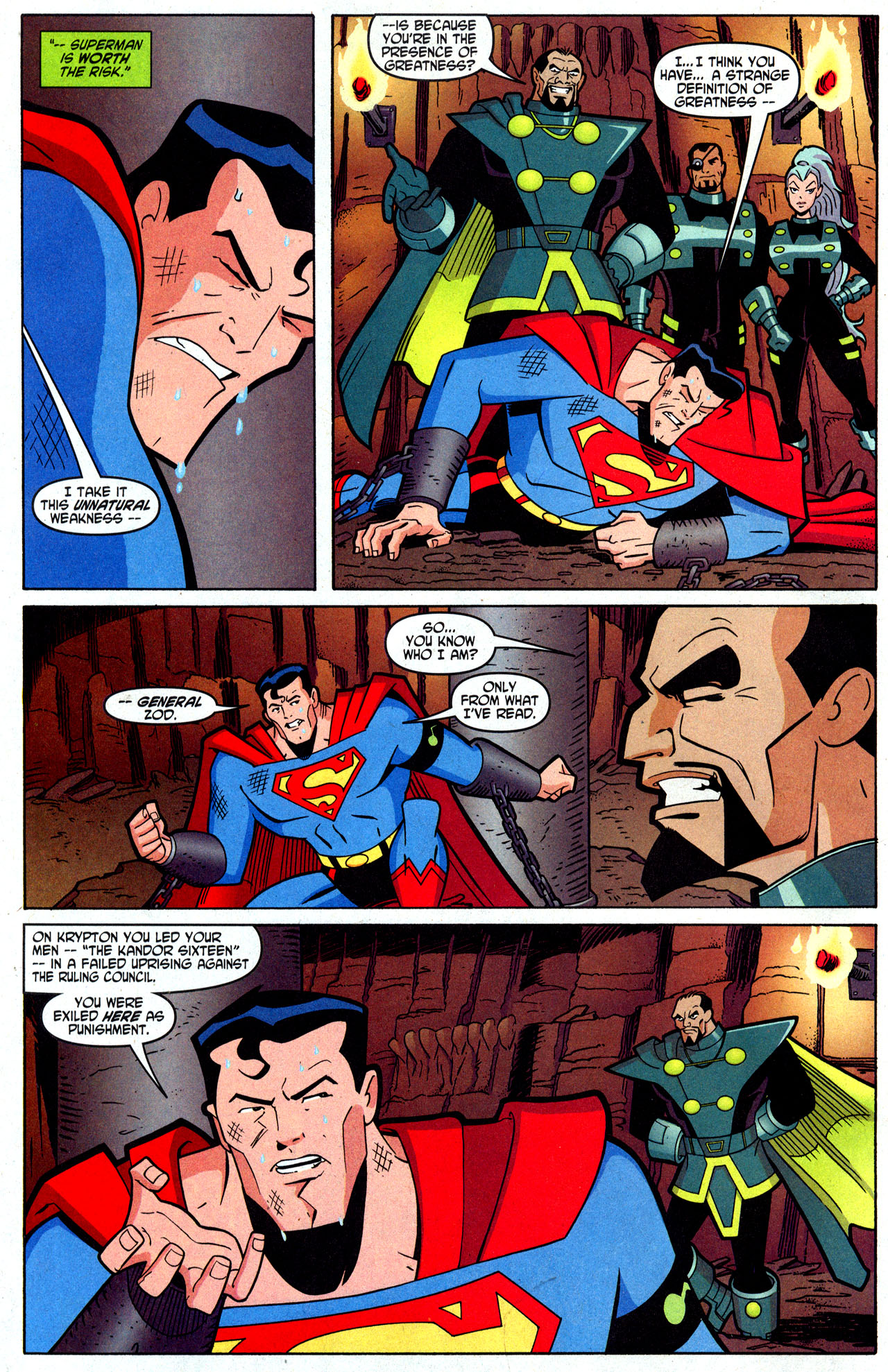 JUSTICE LEAGUE UNLIMITED Comic #34 General Zod SOLD OUT