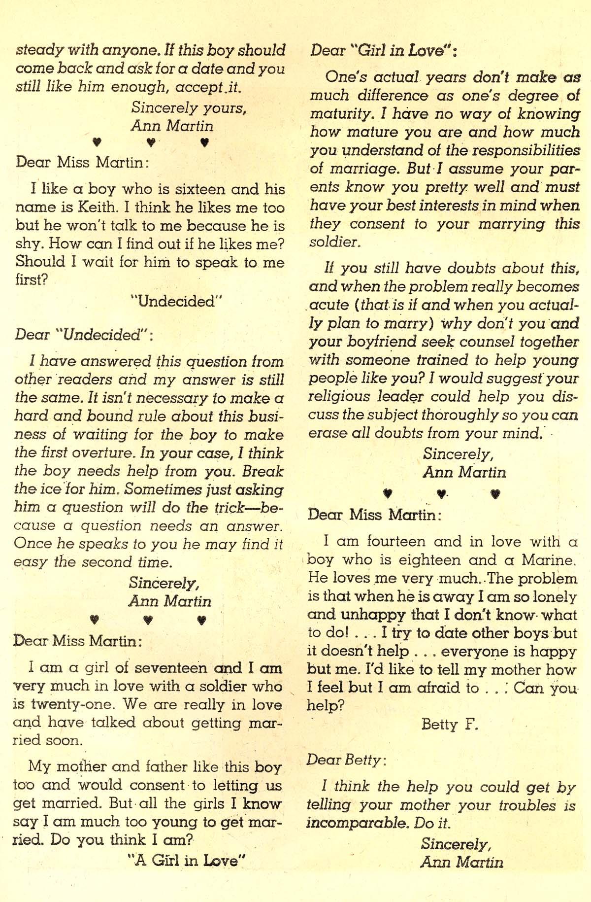 Read online Secret Hearts comic -  Issue #89 - 19