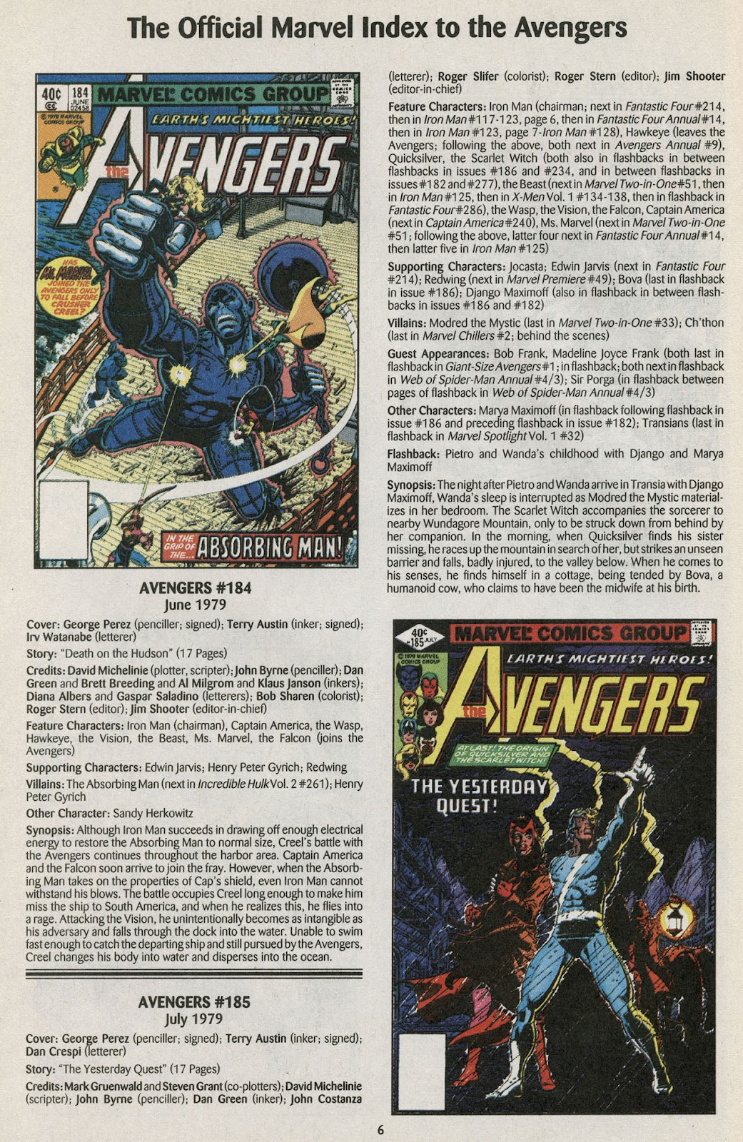 Comic The Official Marvel Index to the Avengers issue 4