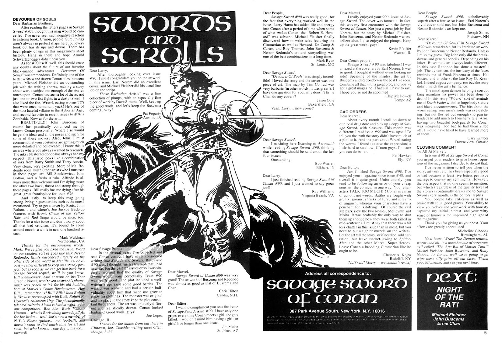 The Savage Sword Of Conan Issue #94 #95 - English 4