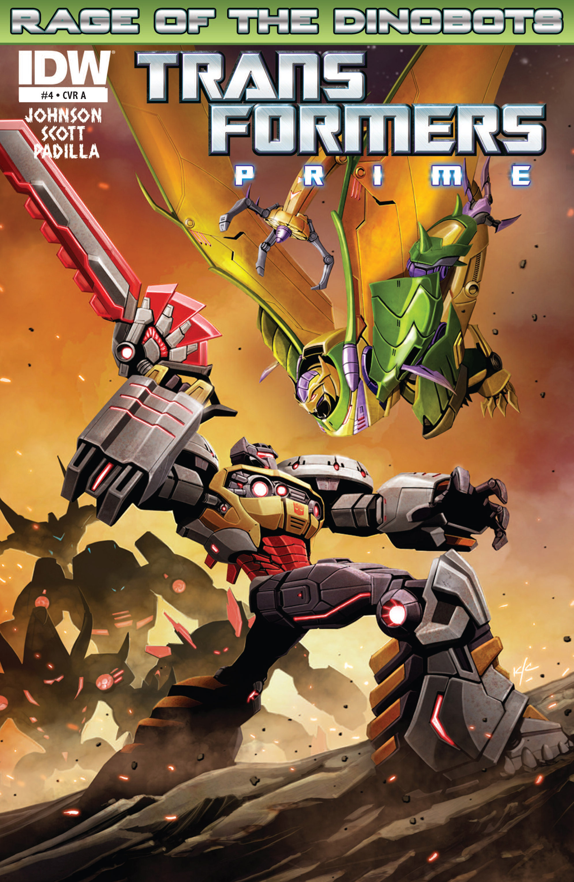 The Transformers Prime: Rage of the Dinobots Issue #4 Page 1