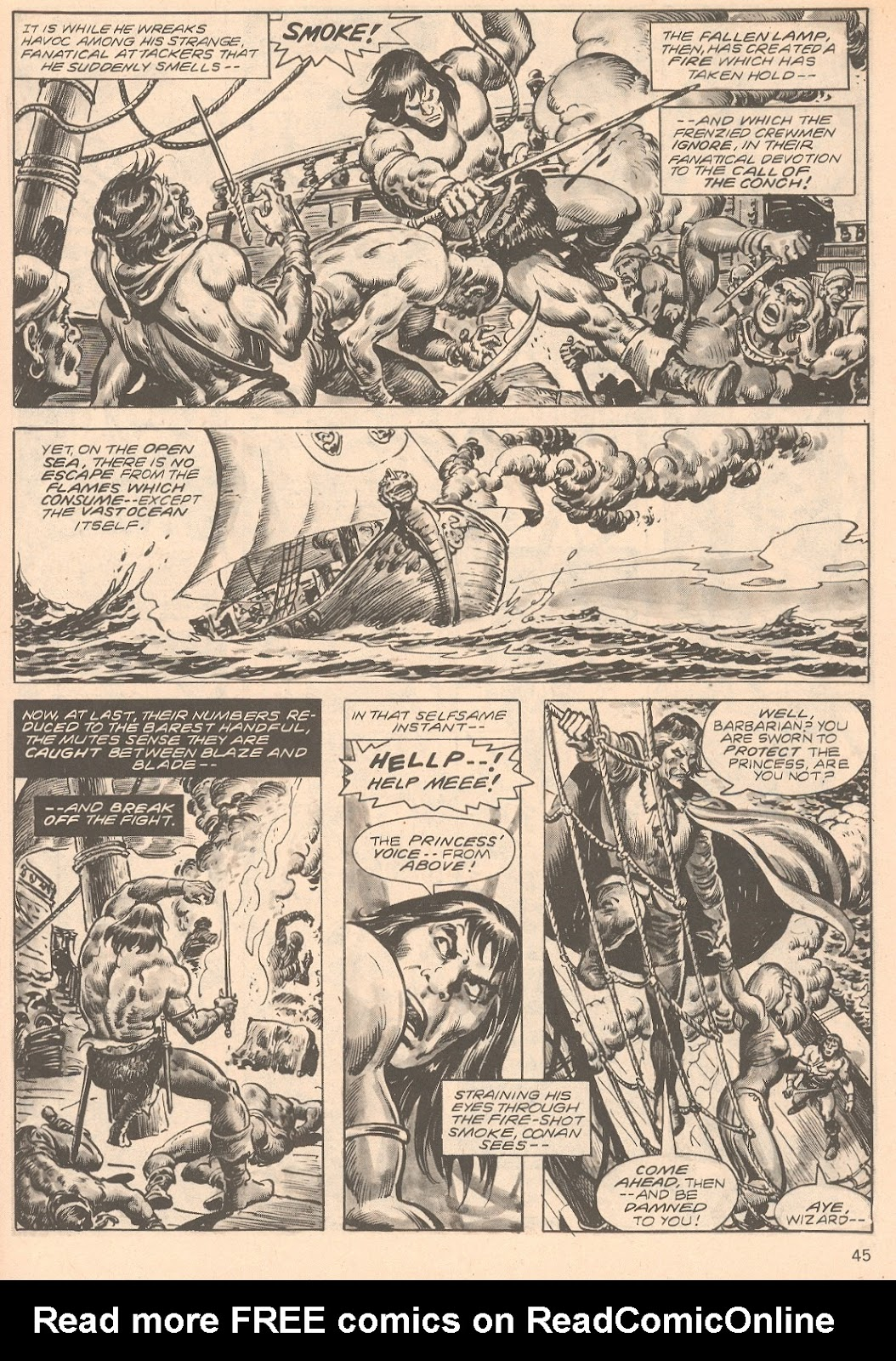 The Savage Sword Of Conan Issue #66 #67 - English 45