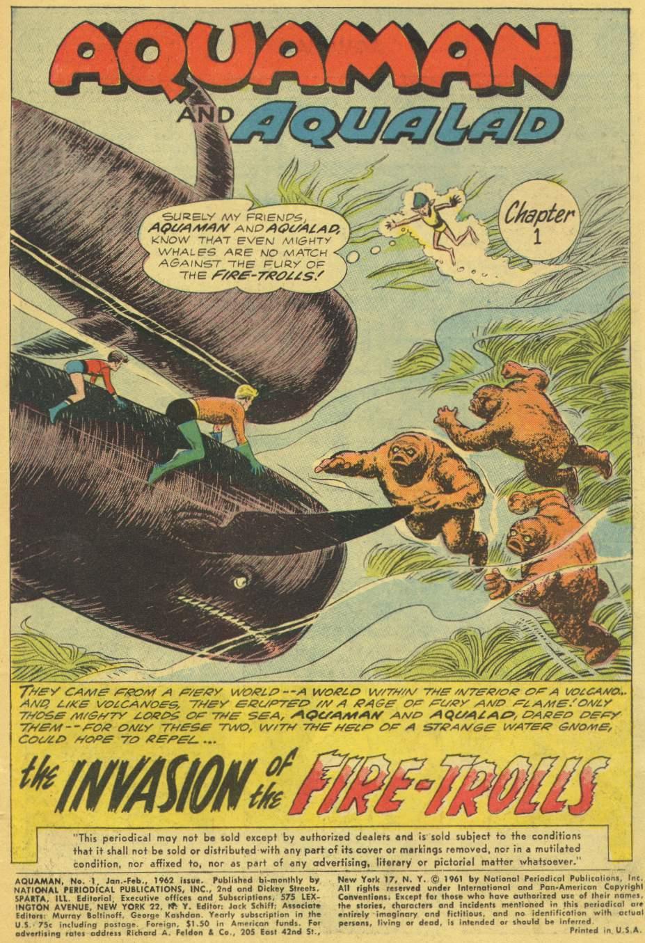 Read online Aquaman (1962) comic -  Issue #1 - 3