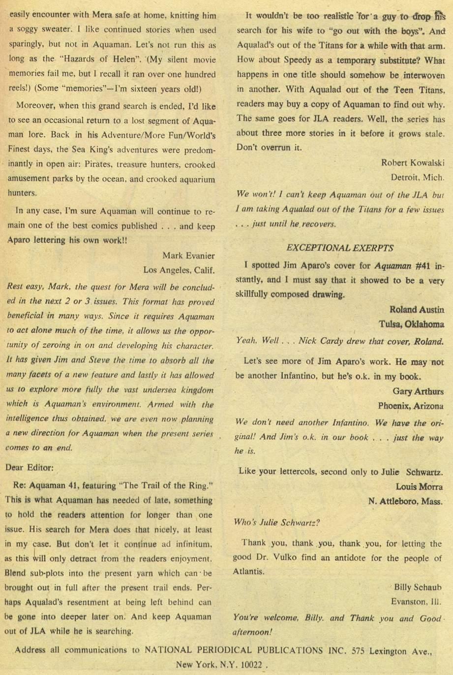 Read online Aquaman (1962) comic -  Issue #43 - 33