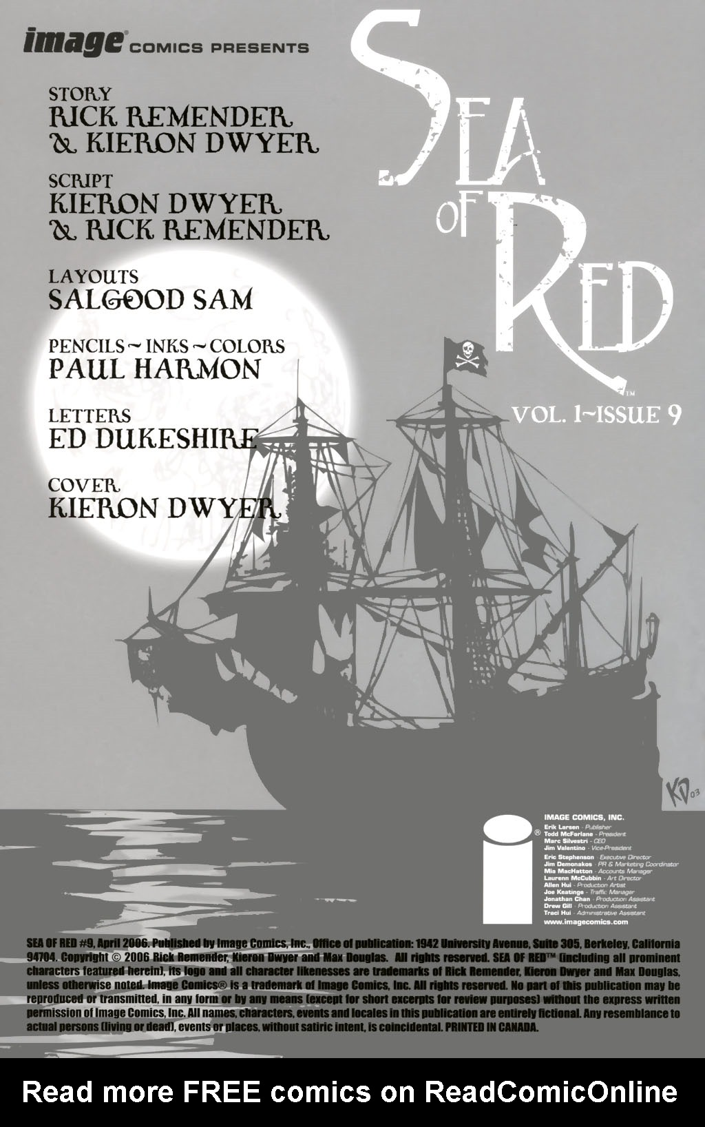 Read online Sea of Red comic -  Issue #9 - 2