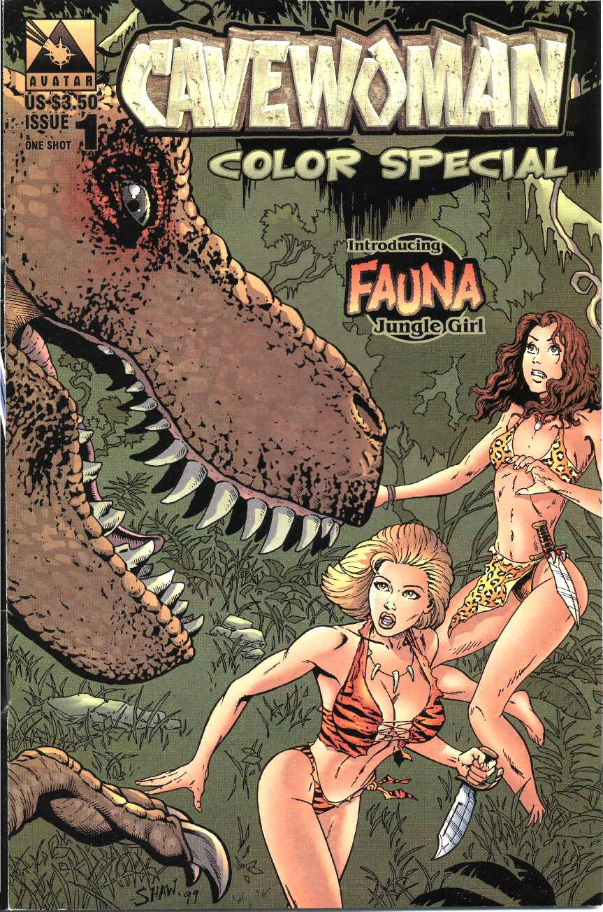 Cavewoman Color Special Full Page 1