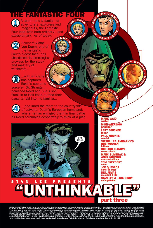 Fantastic Four (1998) #70 #74 - English 2