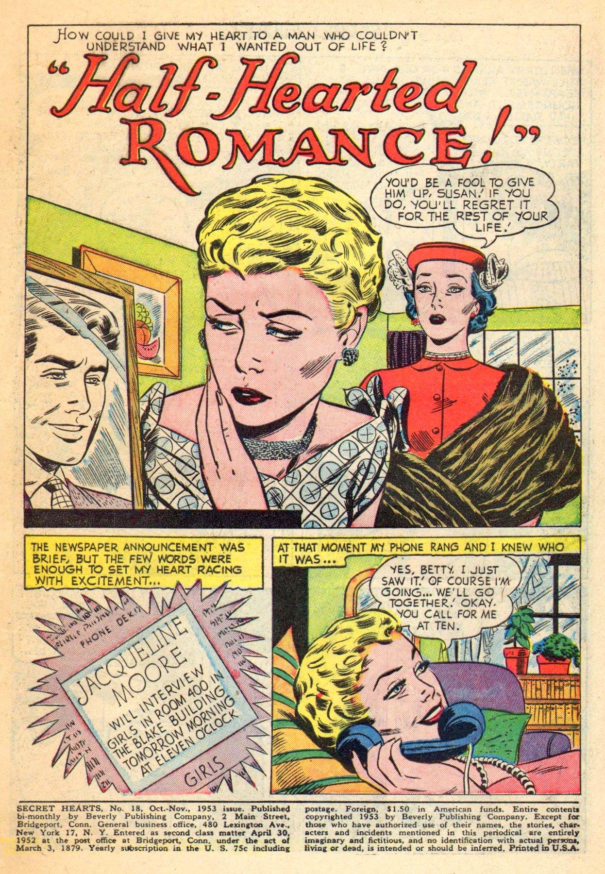 Read online Secret Hearts comic -  Issue #18 - 3