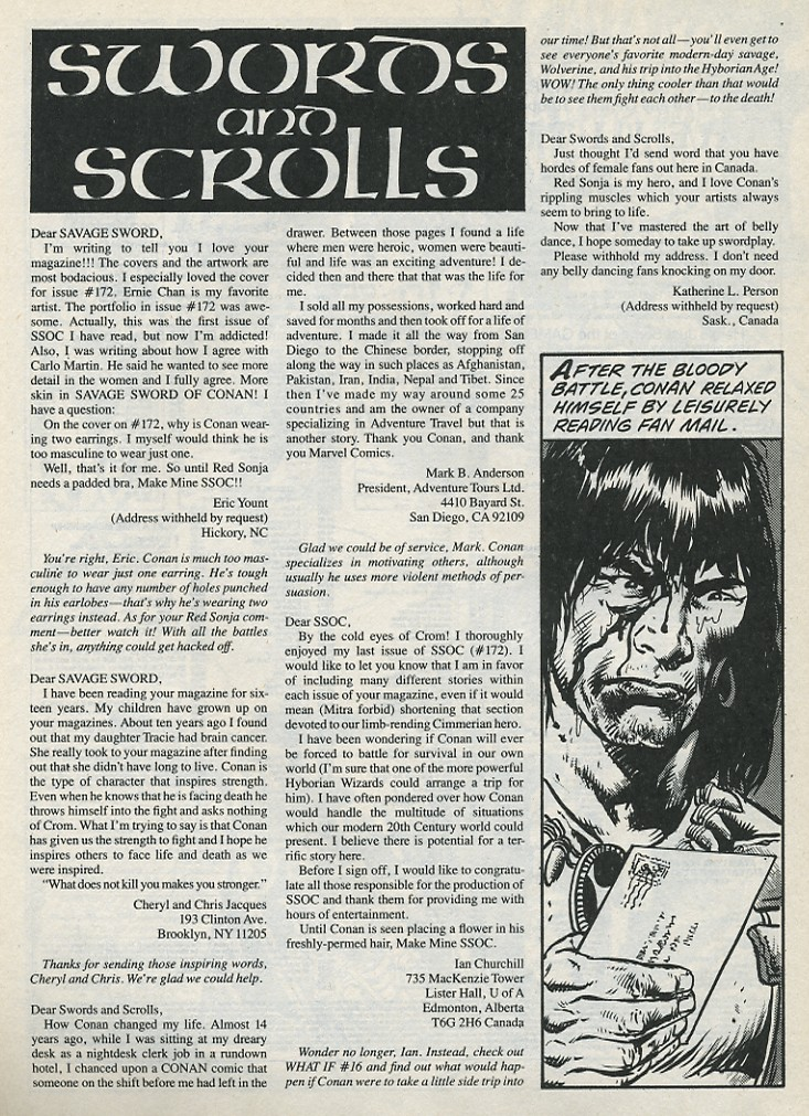 The Savage Sword Of Conan Issue #176 #177 - English 62