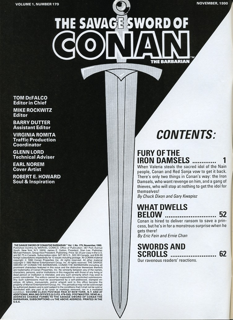 The Savage Sword Of Conan Issue #179 #180 - English 2