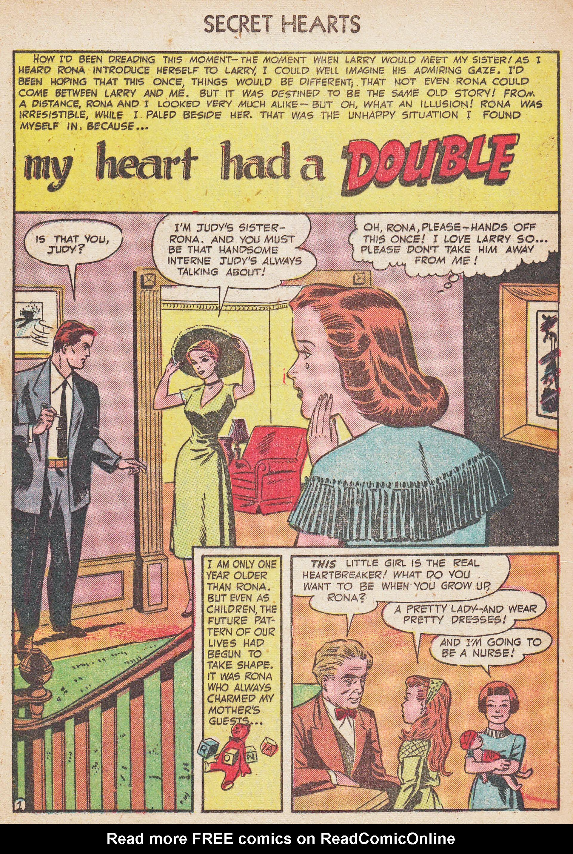 Read online Secret Hearts comic -  Issue #7 - 17