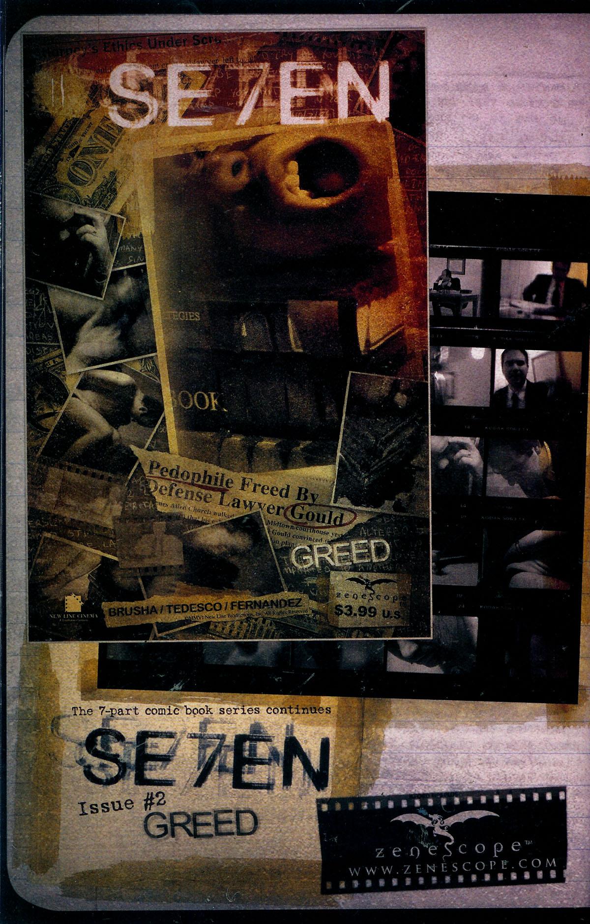 Read online Se7en comic -  Issue #1 - 29