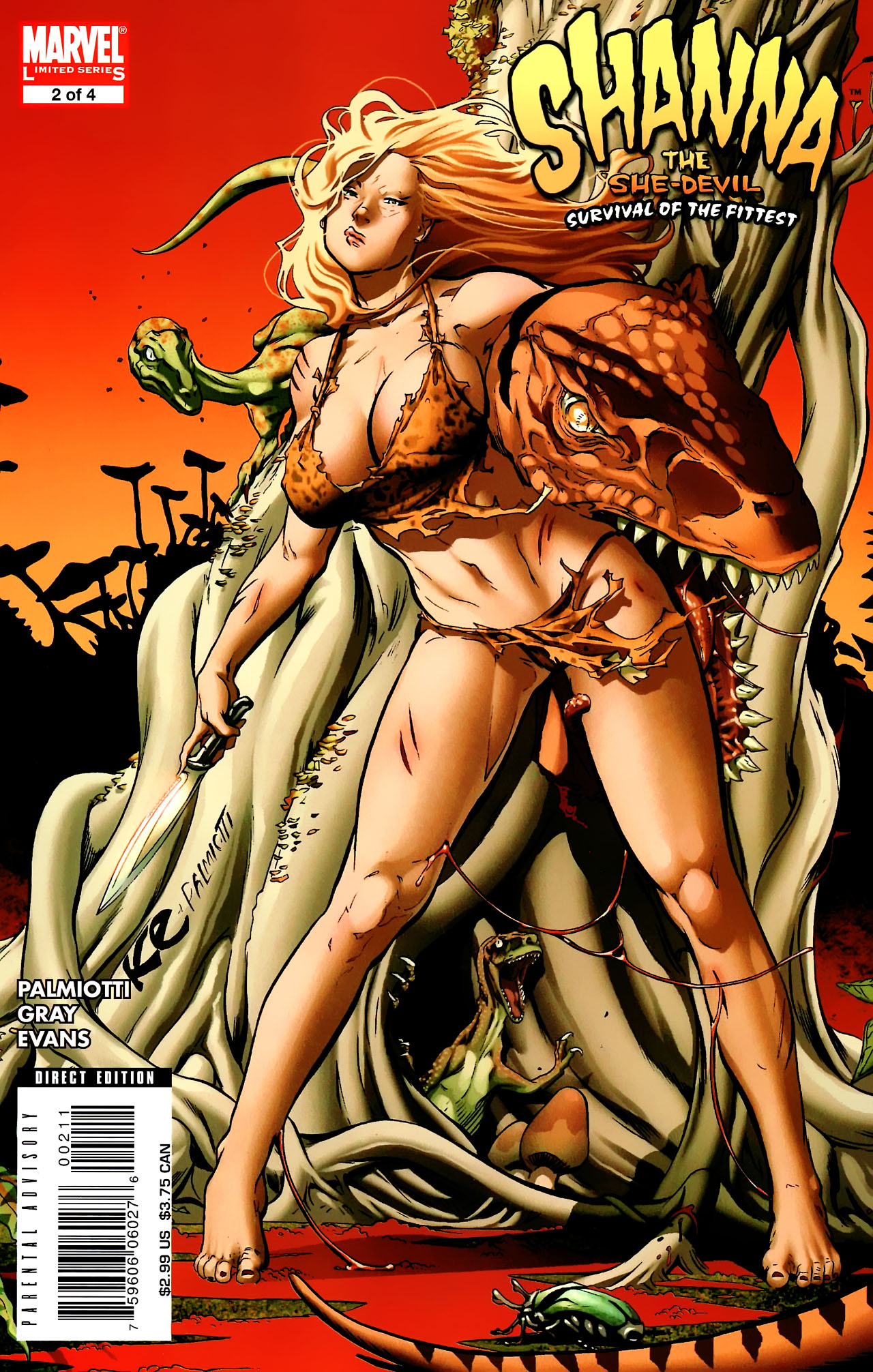 Read online Shanna the She-Devil: Survival of the Fittest comic -  Issue #2 - 1