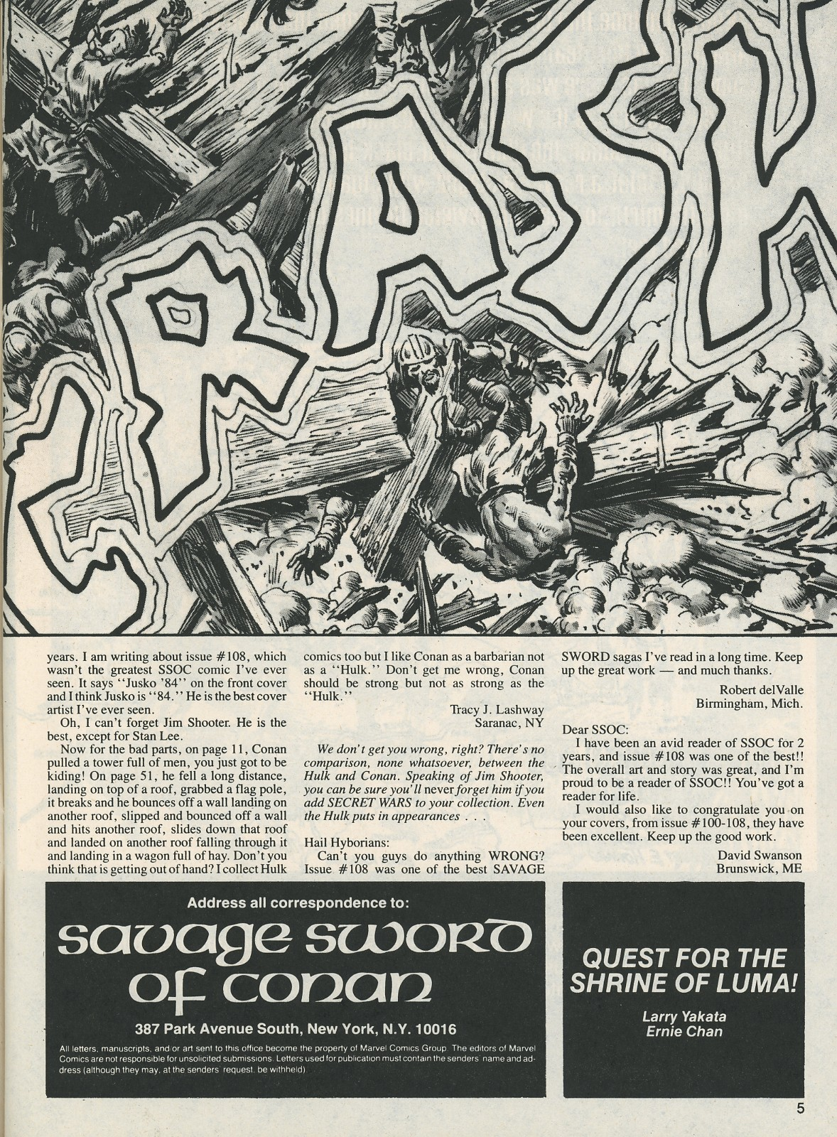 The Savage Sword Of Conan Issue #112 #113 - English 5