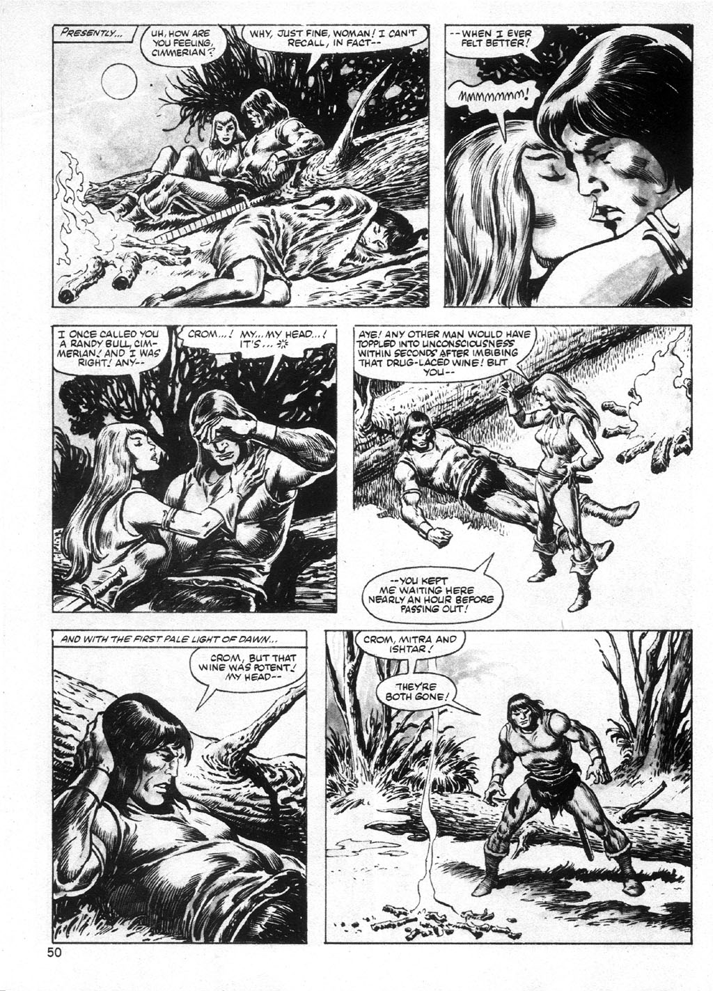 The Savage Sword Of Conan Issue #95 #96 - English 50